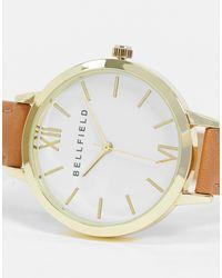 Montre à bracelet marron et cadran blanc Bellfield en coloris Brown