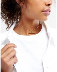 ASOS - Metallic Toggle Choker Necklace - Lyst