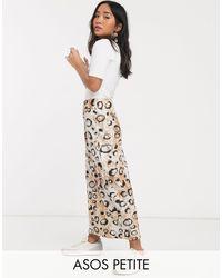 ASOS Multicolor Asos Design Petite Satin Bias Midi Skirt