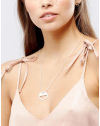 Pilgrim | Metallic Silver Plated Eclipse Necklace | Lyst