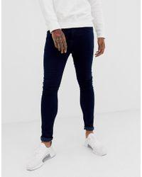 Jeans super skinny lavaggio effetto candeggio di New Look in Blue da Uomo