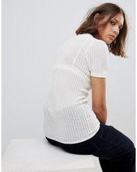 WOOD WOOD White Lottie Knit Short Sleeve Top