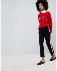 21a85a4bad3 New Look. Women s Black Side Stripe Trousers