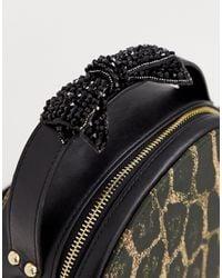 Juicy Couture Juicy - Black Label - Burnett Circle - Ronde Tas Met Luipaardprint