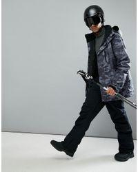 Quiksilver Black Mission Camo Ski Jacket for men