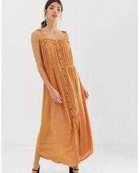Vestido largo Y.A.S de color Brown