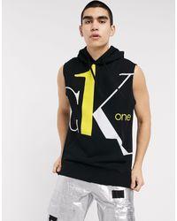 Calvin Klein – CK1 Capsule – Ärmelloses Sweatshirt mit großem, abgesetztem Logo in Black für Herren