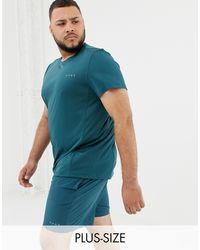 Plus - T-shirt per allenamento quick dry verde-azzurro di ASOS 4505 in Green da Uomo