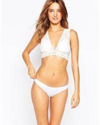 Fashion Forms - White Triangle Peekaboo Back Bridal Bra - Lyst
