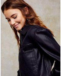 Черная Джинсовая Куртка С Покрытием -черный Цвет TOPSHOP, цвет: Black