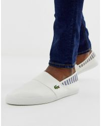 Lacoste White Marice Plimsoll for men