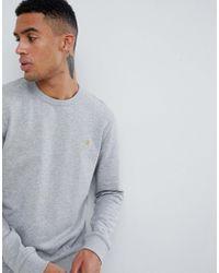 Sudadera de cuello redondo en gris claro Tim de Farah de hombre de color Gray