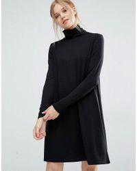 Vila Black Roll Neck Dress