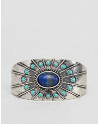 Bracelet rigide tendance avec pierres en argent poli ASOS pour homme en coloris Metallic