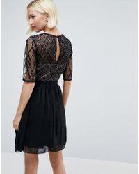 Little Mistress Black Sequin Prom Dress