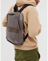 Коричневый Рюкзак Из Искусственной Кожи С Геометрическим Принтом ASOS для него, цвет: Multicolor