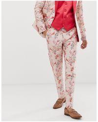 Pantaloni da abito skinny di ASOS in Pink da Uomo