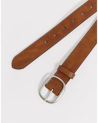 Cintura marrone con fibbia di Burton in Brown da Uomo