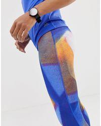 Leggings Reebok en coloris Purple
