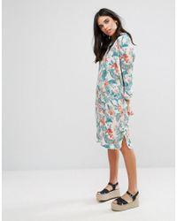 Soaked In Luxury | Blue Bell Shirt Dress | Lyst