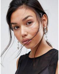 Krystal London - Metallic Swarovski Crystal Multi Drop Earrings - Lyst
