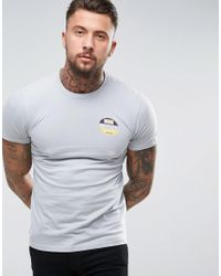KTZ - Gray T-shirt With 59 Fifty Back Print for Men - Lyst