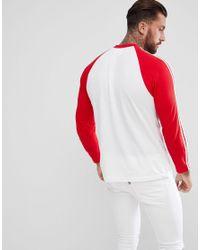 Adidas Originals Adicolor Longsleeve Top In Red Cw1231 for men
