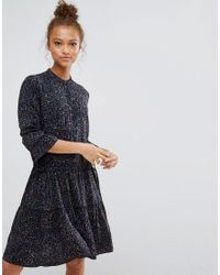 B.Young Blue Leopard Print Dress