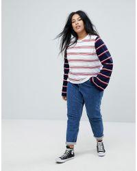 ASOS Blue Splice Stripe With Long Sleeve