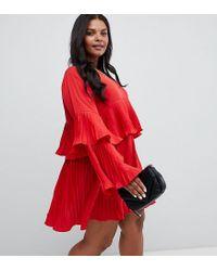 AX Paris Pleated Tiered Dress