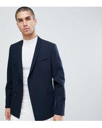 Noak Blue Skinny Double Breasted Blazer for men