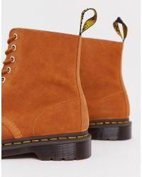 Светло-коричневые Замшевые Ботинки С 8 Парами Люверсов 1460 Pascal Dr. Martens для него, цвет: Brown