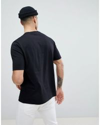 Love Moschino Black Rubber Logo T-shirt for men