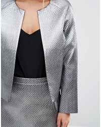 ASOS   Metallic Quilt Jacket   Lyst