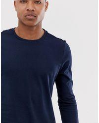 Camiseta azul marino ASOS de hombre de color Blue