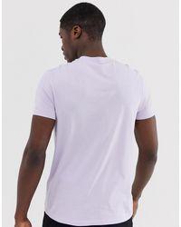 T-shirt ras ASOS pour homme en coloris Purple
