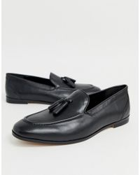 KG by Kurt Geiger Black Kg By Kurt Geiger Tassel Loafers for men