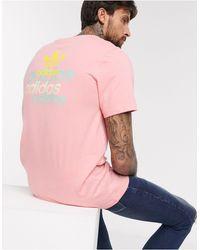T-shirt rosa con logo di Adidas Originals in Pink da Uomo