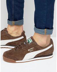 PUMA Roma Sneakers In Brown 36354407 for men