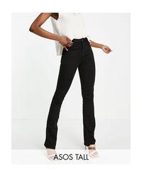 Расклешенные Моделирующие Джинсы Черного Цвета С Завышенной Талией ASOS, цвет: Black