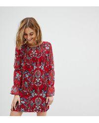 Vestido amplio con estampado floral Reclaimed (vintage) de color Red