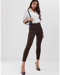 Pantalon skinny élastiqué à motif jacquard géométrique ASOS en coloris Multicolor