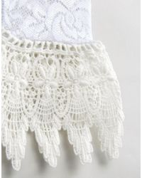 ASOS - White Lace Cuffs - Lyst