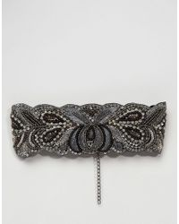 ASOS Metallic Wide Beaded Choker Necklace
