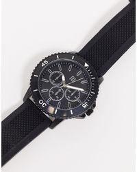 Черные Наручные Часы -черный River Island для него, цвет: Black