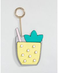 ASOS - Multicolor Asos Cocktail Bag Charm Key Ring - Lyst