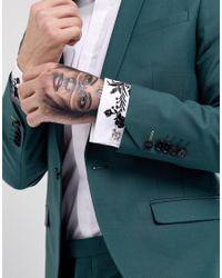 ASOS Metallic Asos Fleur De Lis Cufflinks In Silver for men