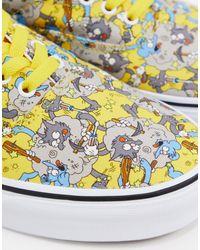 Кроссовки X The Simpsons Itchy And Scratchy Era-мульти Vans для него, цвет: Multicolor
