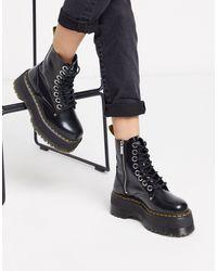 Черные Ботинки На Платформе -черный Цвет Dr. Martens, цвет: Black