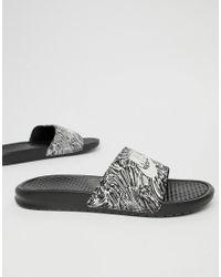 sports shoes 9da2b a2229 Benassi JDI Nike pour homme en coloris Noir - Lyst